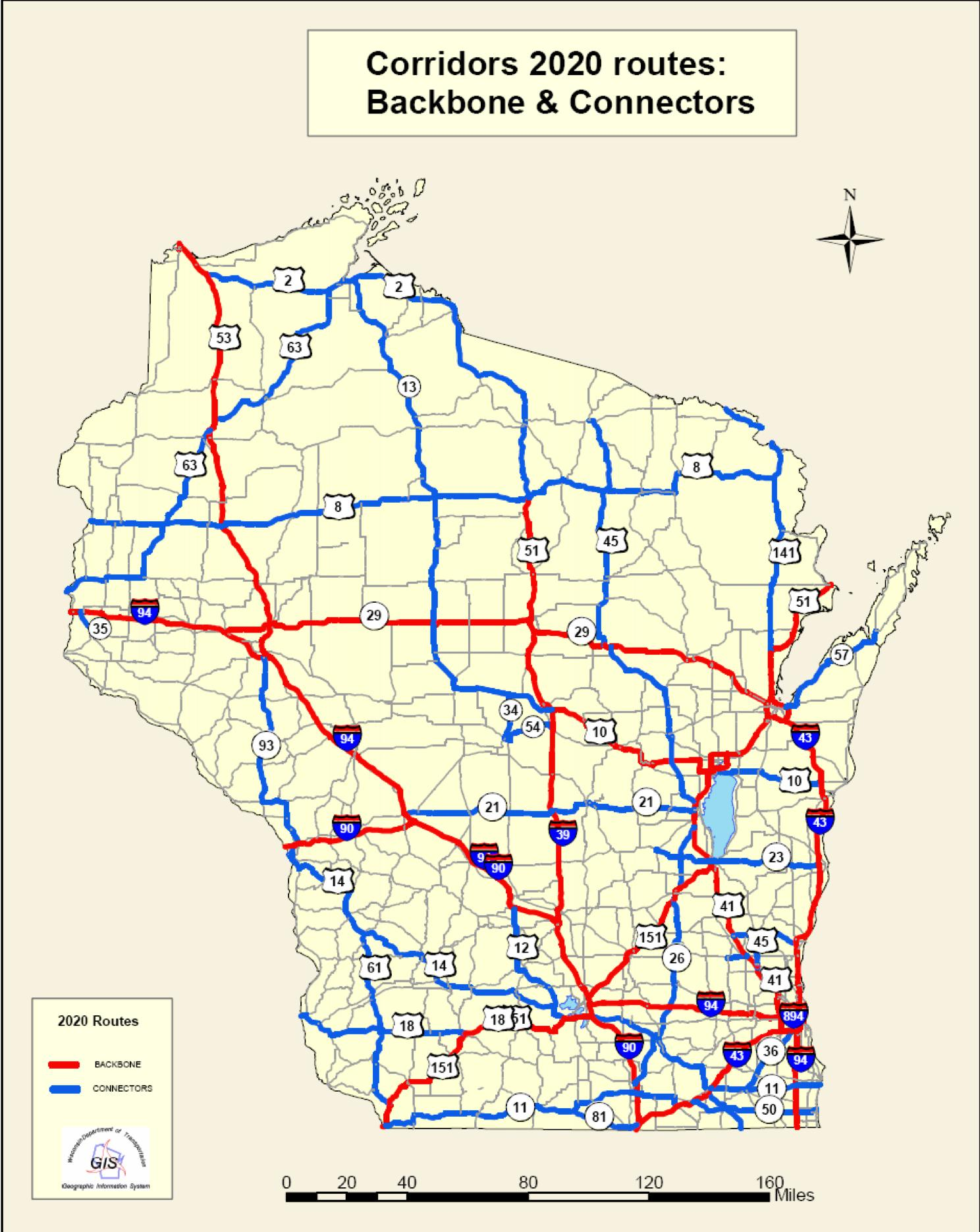 Another map of Wisconsin.