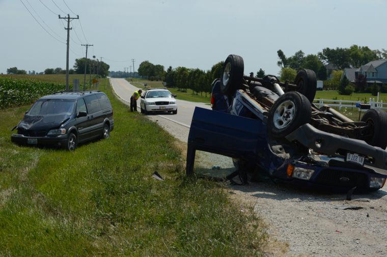 Overturned car.